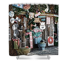 Shed Toilet Bowls And Plaques In Seligman Shower Curtain by RicardMN Photography