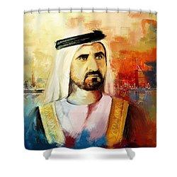 Sheikh Mohammed Bin Rashid Al Maktoum Shower Curtain by Corporate Art Task Force