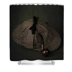 Sherlock Holmes Shower Curtain by Joana Kruse