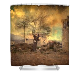 She's Like The Wind ...through My Tree Shower Curtain by Taylan Soyturk