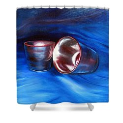 Shiny Metal Cups Study Shower Curtain by LaVonne Hand