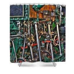 Ship Engine Shower Curtain by Heiko Koehrer-Wagner