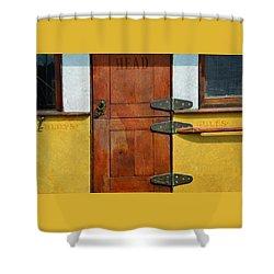 Ship's Head Shower Curtain by Ed Hall