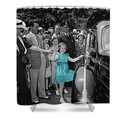 Shirley Temple Shower Curtain by Andrew Fare
