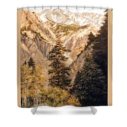 Shirley Temple Mine Shower Curtain by Donna Tucker