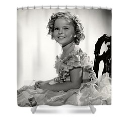 Shirley Temple Portrait Shower Curtain by Georgia Fowler