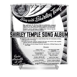 Shirley Temple Song Album Shower Curtain by Mel Thompson