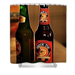 Shock Top Shower Curtain by Cheryl Young