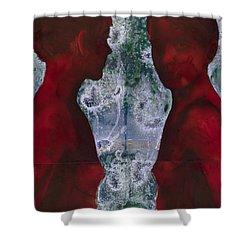 Shoreline Shower Curtain by Graham Dean