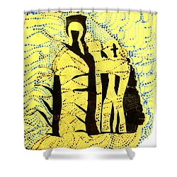 Shroud Of Jesus Shower Curtain by Gloria Ssali