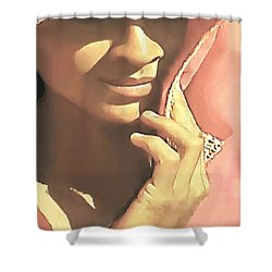 Shy Shower Curtain by SophiaArt Gallery