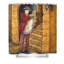 Sicilian Ciaramella Shower Curtain by Pamela Allegretto