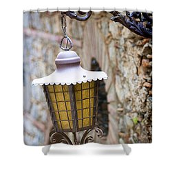 Sicilian Village Lamp Shower Curtain by David Smith
