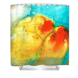 Siesta Sunrise Shower Curtain by Sharon Cummings