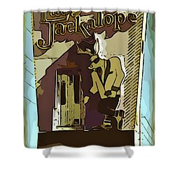 Sign Of The Jackalope Shower Curtain by John Malone