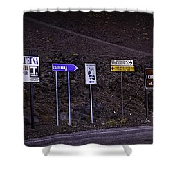 Signs Of A Crater - Sicily Shower Curtain by Madeline Ellis