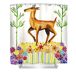 Signs Of Spring Shower Curtain by Cat Athena Louise