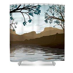 Silkscreen Shower Curtain by Cynthia Decker