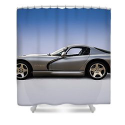 Silver Viper Shower Curtain by Douglas Pittman