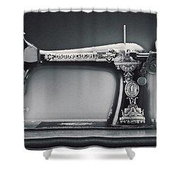 Singer Machine Shower Curtain by Kelley King