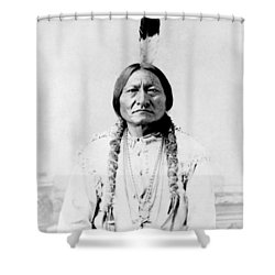 Sioux Chief Sitting Bull Shower Curtain by War Is Hell Store