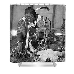 Sioux Medicine Man, C1907 Shower Curtain by Granger
