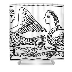 Sirens, Mythological Creature Shower Curtain by Photo Researchers