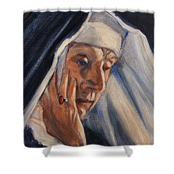 Sister Ann Shower Curtain by Xueling Zou