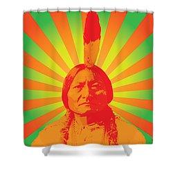 Sitting Bull Shower Curtain by Gary Grayson