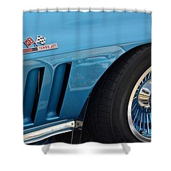 Sixty Six Corvette Roadster Shower Curtain by Frozen in Time Fine Art Photography
