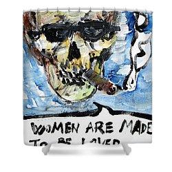 Skull Quoting Oscar Wilde.6 Shower Curtain by Fabrizio Cassetta