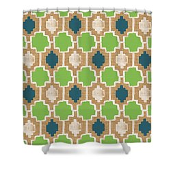 Sky And Sea Tile Pattern Shower Curtain by Linda Woods