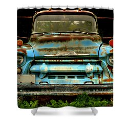 Sky Blue And Still Cool Shower Curtain by Thomas Young