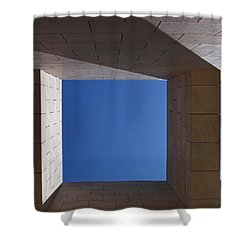 Sky Box At The Getty  Shower Curtain by Rona Black