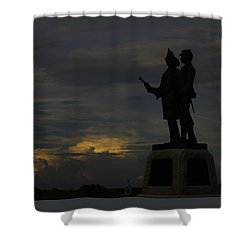 Sky Fire - 73rd Ny Infantry 4th Excelsior 2nd Fire Zouaves - Summer Evening Thunderstorms Gettysburg Shower Curtain by Michael Mazaika