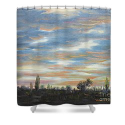 Sky Shower Curtain by Vesna Martinjak