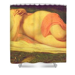 Sleeping Nymph Shower Curtain by Jean Baptiste Ange Tissier