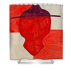 Sleepy Hidalgo Original Painting Shower Curtain by Sol Luckman