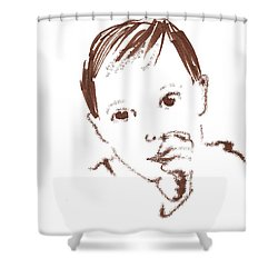 Sleepy Time Pal Shower Curtain by Seth Weaver