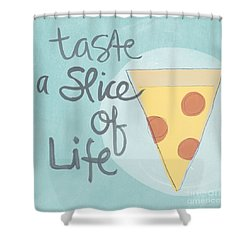 Slice Of Life Shower Curtain by Linda Woods