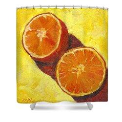 Sliced Grapefruit Shower Curtain by Marlene Lee