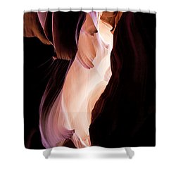 Slot Canyon Arizona Shower Curtain by Evie Carrier