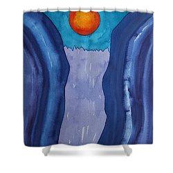 Slot Retablo Original Painting Shower Curtain by Sol Luckman