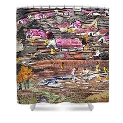 Slum On Hill  Shower Curtain by Basant Soni