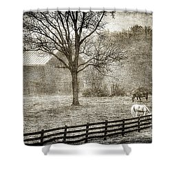 Small Farm In West Virginia Shower Curtain by Dan Friend