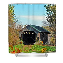 Small Private Country Bridge Shower Curtain by Barbara McDevitt