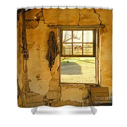 Smell Of Hay Shower Curtain by Joe Jake Pratt