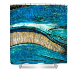 Smile Shower Curtain by Carla Sa Fernandes