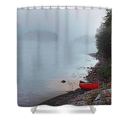 Smoke On The Water Shower Curtain by Kenneth M  Kirsch