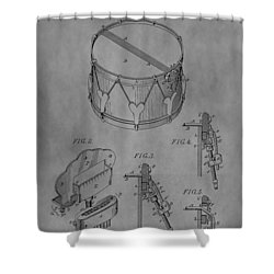 Snare Drum Shower Curtain by Dan Sproul